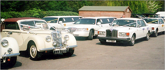 Some of our fleet of liuxury cars at Barringtons Limousines.