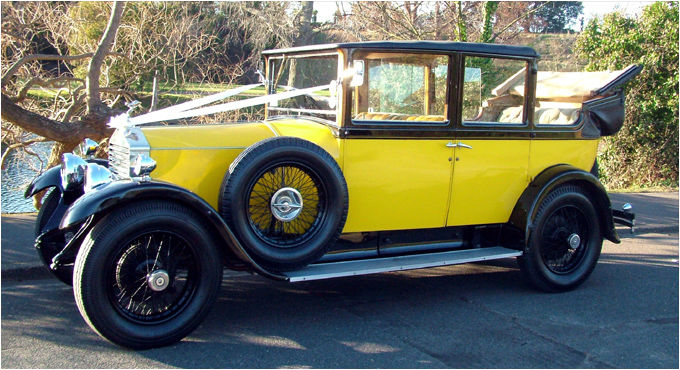 Yellow Vintage Rolls-Royce